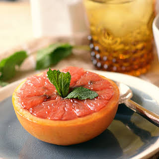 Baked Honey Brown Sugar Grapefruit.