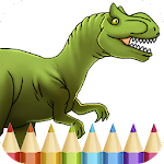 Dinosaurs Coloring Book Game Icon