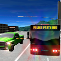 Crime City Police Party bus 3D icon
