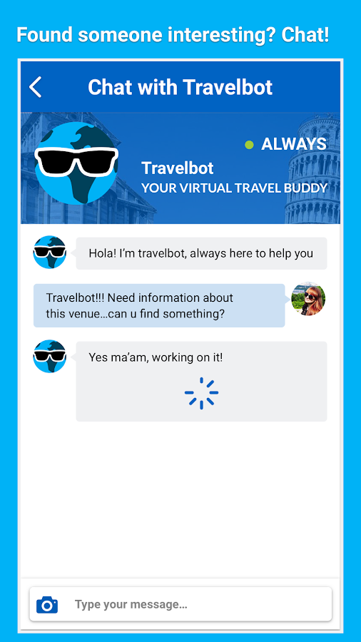Tourist Chat- screenshot