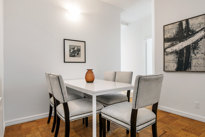 Dining space at Murray Hill apartment