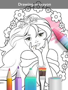 Princess coloring book 14