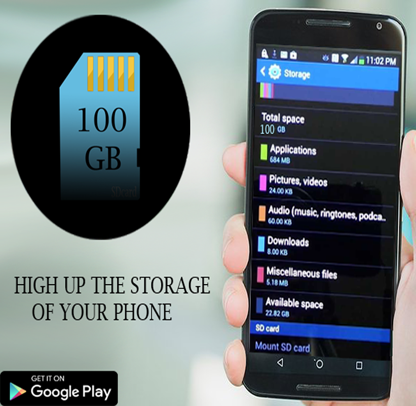 Download 100 GB SD Card storage APK latest version app for android