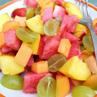 Fresh Summer Fruit Salad - Melon Grape Nectarine Recipe