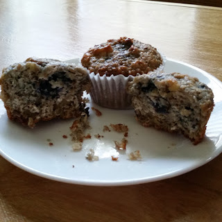 Mixed Berry And Lemon Oat Bran Muffins.