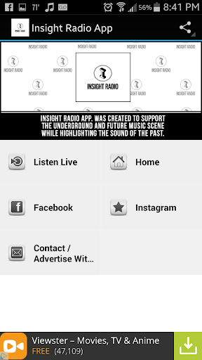 Insight Radio App
