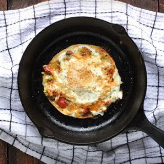 Open-faced Fried Egg Quesadilla