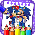 coloring sonic dash hedge