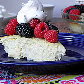 Sugar Free Crustless Coconut Custard Pie {Dairy Free, Gluten Free & Low Carb} Recipe