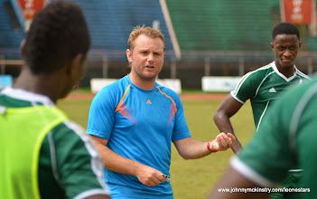 Photo: Assistant Coach Tom Harris [Training Camp ahead of Leone Stars v Swaziland Game on 31 May 2014 (Pic: Darren McKinstry)]
