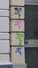 "Photo: Stencil; Unknown Artist; ""Free WiFi"""
