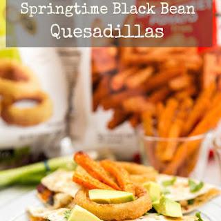 Springtime Black Bean Quesadillas.