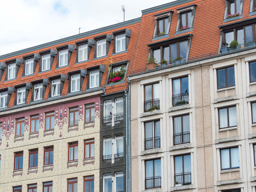 Some of the distinctive architecture in downtown Berlin.