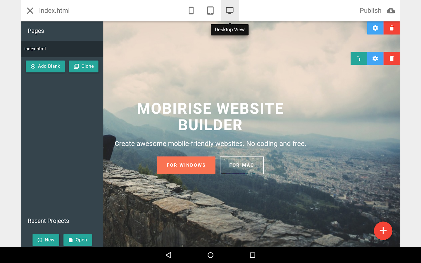 Mobirise Website Builder- screenshot