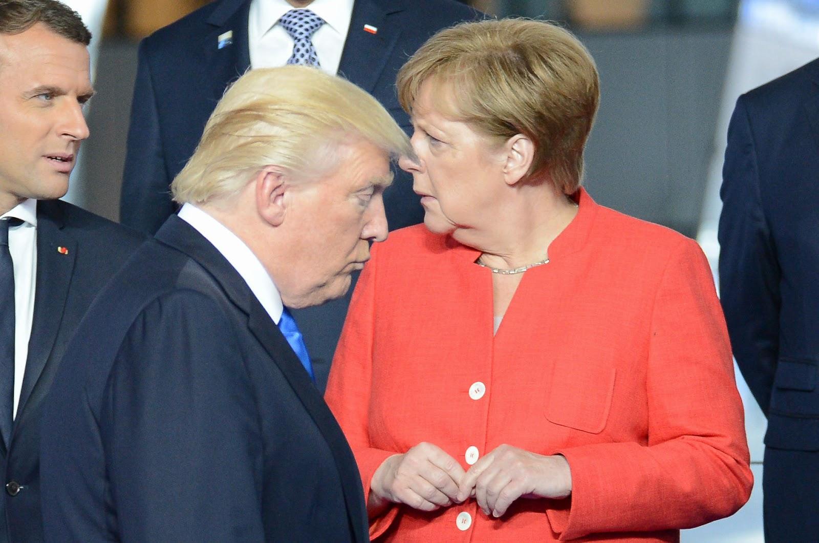 Президент США Дональд Трамп, канцлер Германии Ангела Меркель