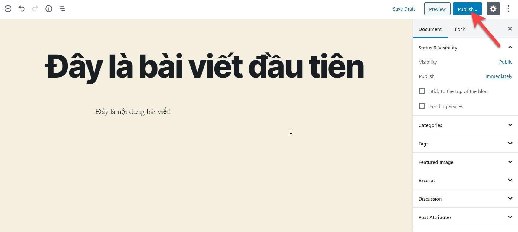 Tao bai viet tren WordPress
