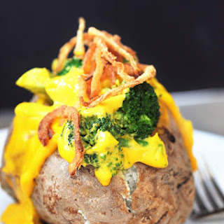 Vegan Cheddar & Broccoli Stuffed Baked Potato Recipe