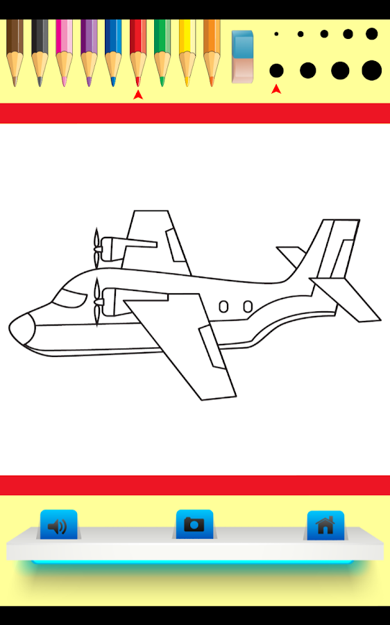 Kids Coloring Book - Airplane