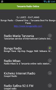 Tanzanie Radio Online - náhled