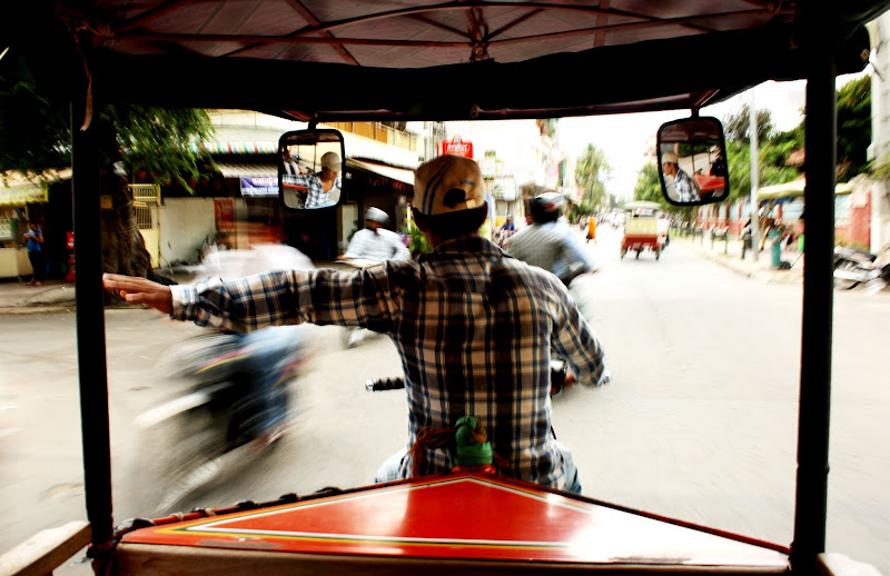 Photo: Phnom Penh roads are mental. Luckily our tuk-tuk driver went at WARP SPEED.