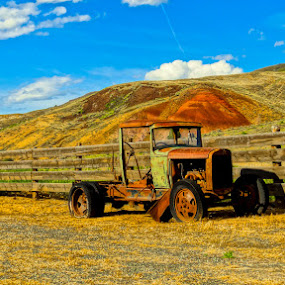 Rustic  by Dennis Mai - Transportation Automobiles ( countryside, ranch, pickup, truck, rustic, country )