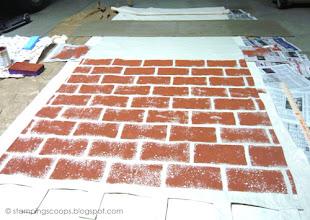 Photo: Brick Wall in Progress