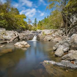 Little Missouri falls by Matt Hollamon - Landscapes Waterscapes ( tokina 11-16, ouachita, bigstopper, nikon d500, arkansas )