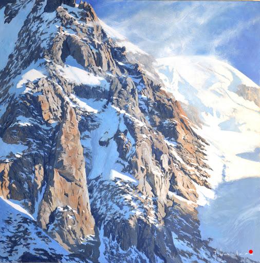 Altitude. oil on canvas,80x80cm