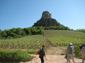 Photo: The Rock of Soulte' rises out of the vineyards near Macon.