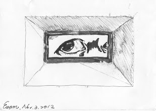 Photo: Wall eyes 2012.11.03 Spyhole on the prison wall. You peeped and I keep an eye on you (inspection) . Every day spy vs. spy. Aren't you tired ?  牆眼2012.11.03鋼筆 牢房長牆眼 你窺我巡看 天天諜對諜 到底厭不厭