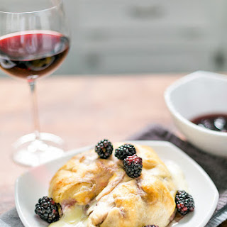 Wine Infused Baked Blackberry Brie