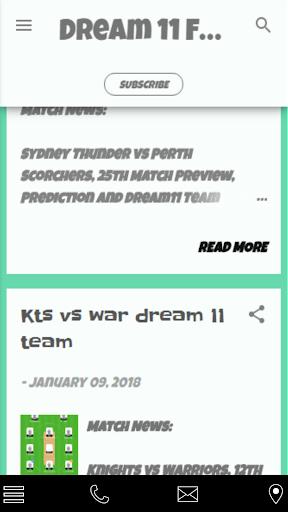 Dream 11 prediction 1.1.0 screenshots 2