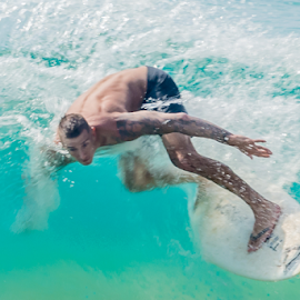by Keith Sutherland - Sports & Fitness Surfing ( surfing, surfer, action, wave, man )