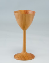 "Photo: Steve Drake 2"" x 4"" goblet [cherry]"