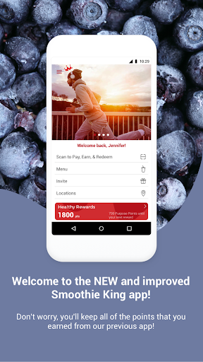 Screenshot for Smoothie King Healthy Rewards in United States Play Store