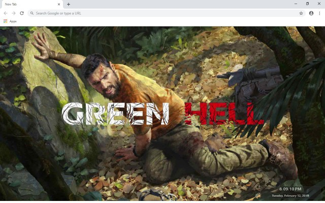 Green Hell New Tab Theme