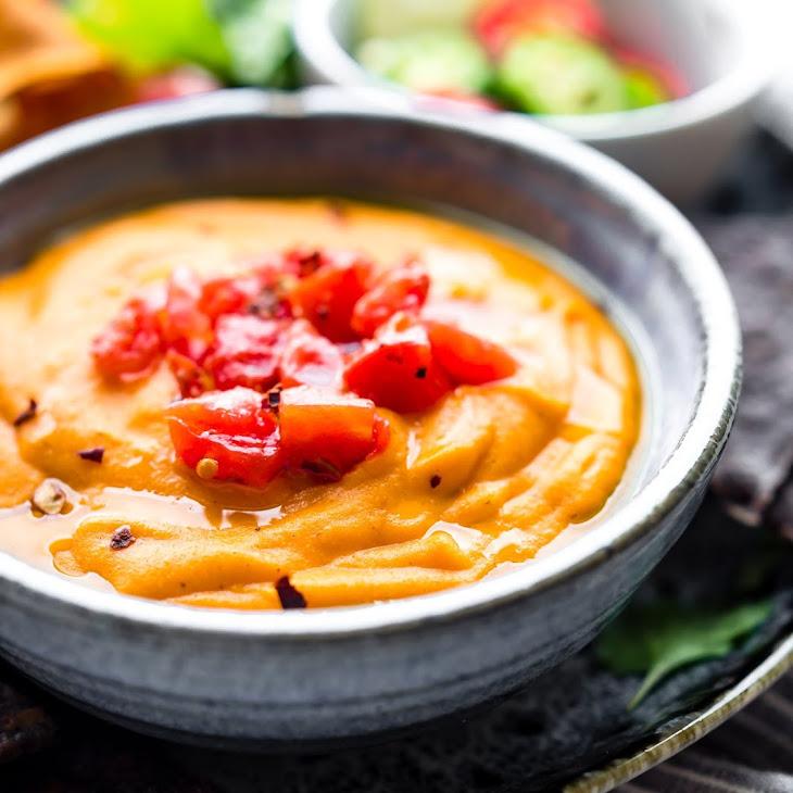 Quick Vegan Salsa Con Queso Recipe