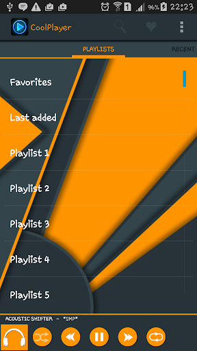 CoolPlayer DarkOrange HD theme