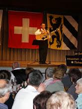 Photo: Ueli Schaub beim Vortrag