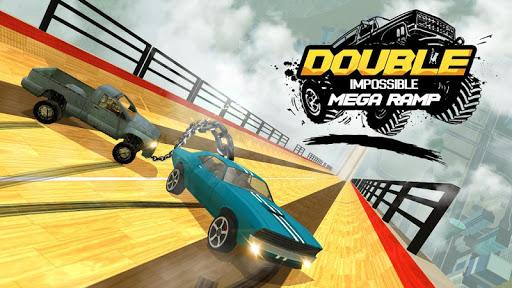 Double Impossible Mega Ramp 3D - Car Jump & Drift apktreat screenshots 1