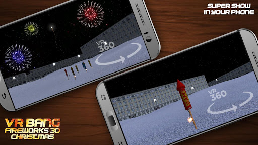VR爆炸烟花3D圣诞