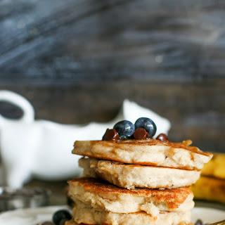 Fluffy Vegan & Gluten Free Protein Pancakes.
