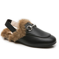 Gucci Faux Fur Sling-Back FUR JR MOC