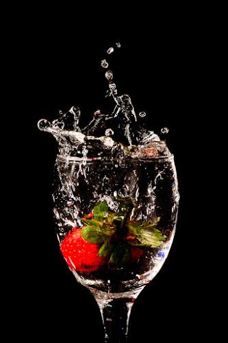 Strawberry Splash by Daniel Karamoy - Artistic Objects Other Objects
