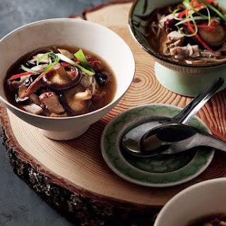 Duck And Shiitake Mushroom Soup.