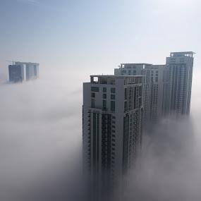 Sky Buildings by Beh Heng Long - City,  Street & Park  Skylines ( abu dhabi )
