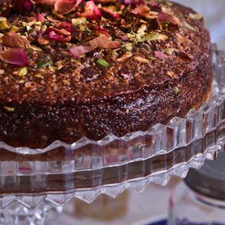 Armenian Nutmeg Cake With Rose, Honey & Pistachios