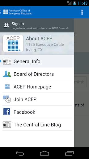 ACEP Educational Meetings