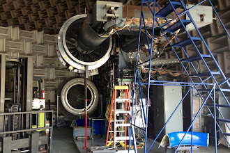 Photo: NASA's Advanced Noise Control Fan Rig is used to develop noise-control concepts for turbofan engines.