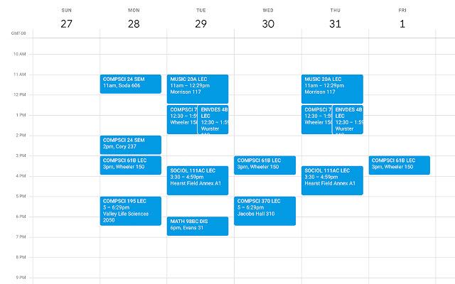 Berkeley Schedule Exporter